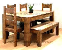 bench dining chair with back chairs seat table rustic set room d