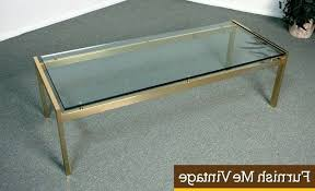 brass glass coffee table coffee table wood glass metal coffee table vintage mid century two tier