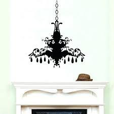 chandelier vinyl wall decal chandelier wall decal style 2 wall decals removable vinyl wall art