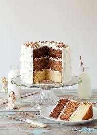 layer cake. triple chocolate layer cake