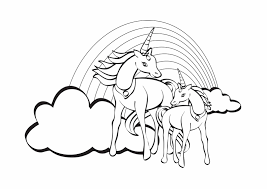 Een paar weken geleden kreeg ik het verzoek of ik van de eenhoorn printables uit mijn printable winkel ook een ontwerp voor. Kleurplaat Eenhoorn Regenboog