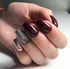 Light Maroon Nails Pin By Alicia Martinez On Uña Decoradas In 2019 Nail