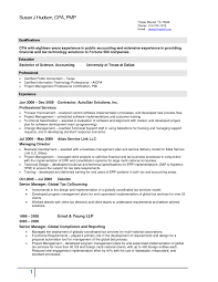 Tax Accountant Resume Sample Experience Accounting Manager