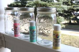 How To Decorate Mason Jars Painted Mason Jar Vases Diy Tutorial Newlywed Pilgrimage DMA 47