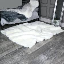 large faux fur rugs extra large white faux fur rug x