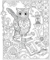 Henna Owl Coloring Pages Coloring Book For Adult And Older Children