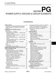 nissan pathfinder power supply ground circuit elements 2007 nissan pathfinder power supply ground circuit elements section pg 88 pages