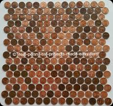 interlocking tile sheets made with real coins pennies attached to mesh