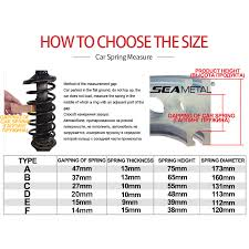 Spring Buffer Size Chart Us 14 07 31 Off Car Buffer Auto Spring Buffers A B C D E F Type Universal Coil Urethane Cushion In Shock Absorber Springs Rubber Buffer For Cars In