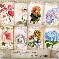 Spring Photo Cards Shabby Spring Time Atc Cards The Digital Collage Club