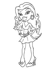 Small Picture Bratz Coloring Pages 18 Coloring Kids