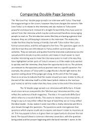 comparing double page spreads essay rebecca miles comparing double page spreadsthe we love pop double page sp is an