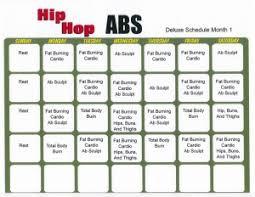Hip Hop Abs Workout Chart Hip Hop Abs Workout Calendar Pdf