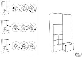 Ikea Instruction Manuals Ikea Storage Furniture Rakke Wardrobe 43x79 Pdf Assembly