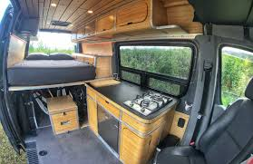interior space of converted van