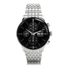 mens classic watches the watch gallery® junghans meister chronoscope steel mens bracelet watch 027 4324 45