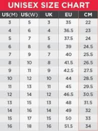 Unisex Clothing Size Chart Swimfinity Tank