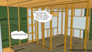 framing an interior wall. Interior Wall Header Framing An R