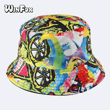 <b>Winfox 2018 New</b> Fashion Summer Reversible Colorful Graffiti ...