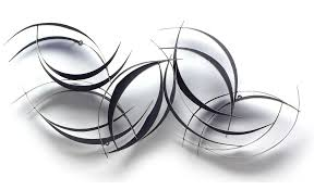Black Iron Wall Decor Flowing Ribbons Abstract Metal Wall Art Nfoxh1067 Metal Wall Art
