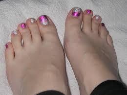 Easy Toe Nail Art Tutorial (Foil Gel Toes) - YouTube