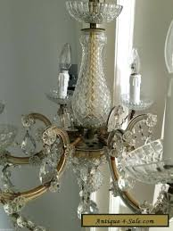 glass crystals antique vintage brass and cut glass crystals chandelier for glass crystals in lungs