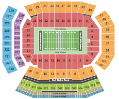 Ben Hill Griffin Stadium Seating Chart Visitors Section Buy Florida Gators Football Tickets Front Row Seats