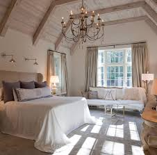 White Washed Wood Ceiling Benjamin Moore White Sand Oc 10 Bedroom Traditional With White