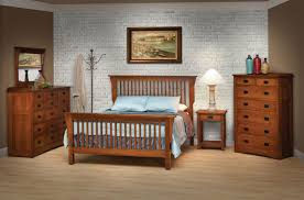 California King Mission-Style Frame Bed with Headboard & Footboard ...