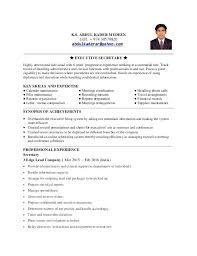 Executive Secretary Sample Resume Resume Secretary Of State Sample ...