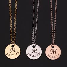 whole diy initial necklace custom letter pendant necklace initials name necklaces pendant for women girls best birthday gifts personalized pendant