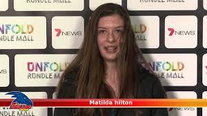 Matilda hilton - 7 News Crows Experience - YouTube