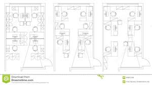 architectural office furniture. Standard Office Furniture Symbols Set Architectural