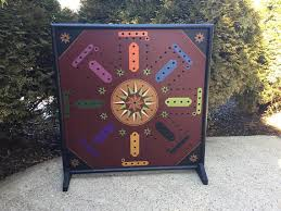 Beautiful Wooden Marble Aggravation Game Board 100 Aggravation Game Board Wood Hand Painted Wooden 79