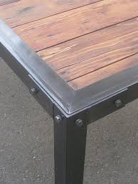 metal and wood patio furniture. Modren And Metal Table With Wood Inserts This Would Be A Cool Patio On Metal And Wood Patio Furniture