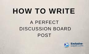 write a discussion board post in apa