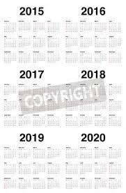 Simple 2015 Calendar Simple Calendar 2015 2016 2017 2018 2019 2020 Fototapete