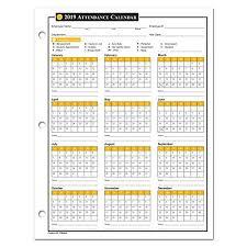 Absentee Calendar Amazon Com 2019 Attendance Calendar 50 Sheets Package On
