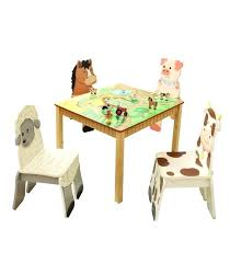 kids wooden table and set of 4 chairs happy farm room collection furniture s toronto near kids chairs and table ideas wooden