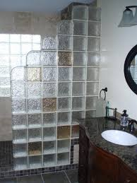 glass block shower contemporary bathroom walk in kits glass block shower