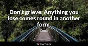 Rumi Quotes On Life Amazing Don't Grieve Anything You Lose Comes Round In Another Form Rumi