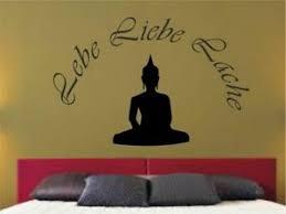 Wandtattoo Lebe Liebe Lache Buddha Sprüche Wohnzimmer Zitat M771 Ebay