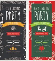 Free Christmas Invitation Template Free Christmas Party Invitation Template Free Vector