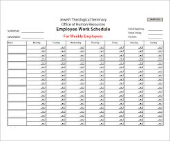 Sample Work Schedule For Employees Sample Employee Schedule Template Cute Simple Work Schedule Template