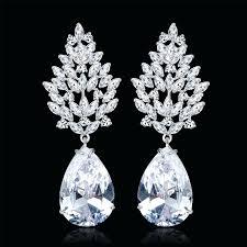 large chandelier earrings for wedding whole luxury large earrings female wedding jewelry bridal big heavy chandelier large chandelier earrings