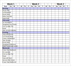 Family Chore Chart And Task List Template For Your Inspirations