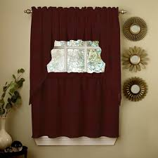 image of kitchen curtain sets brown