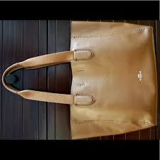 COACH Leather Medium NS City Tote