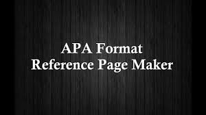 apa title page maker apa format reference page maker youtube
