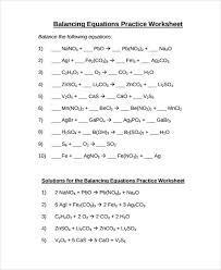 balancing equations worksheet pdf